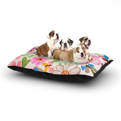 Louise Machado The Garden Dog Pillow with Fleece Cozy Top Size: Large (50 W x 40 D x 8 H)