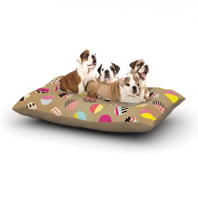 Louise Machado Fun Circle Geometric Dog Pillow with Fleece Cozy Top Size: Large (50 W x 40 D x 8 H)