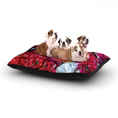 Mary Bateman Bougainvillea Dog Pillow with Fleece Cozy Top Size: Large (50 W x 40 D x 8 H)