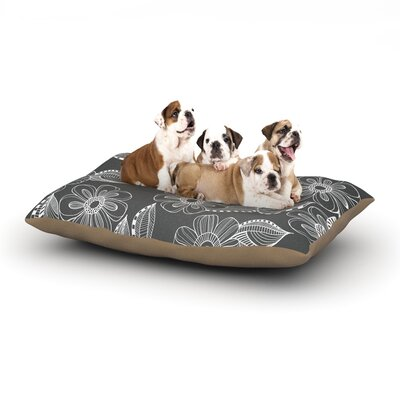 Louise Machado Floral Ink Dog Pillow with Fleece Cozy Top Size: Large (50 W x 40 D x 8 H)
