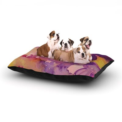 Louise Machado Dissolved Flowers Dog Pillow with Fleece Cozy Top Size: Large (50 W x 40 D x 8 H)