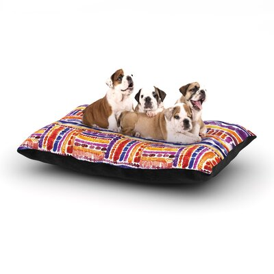 Louise Machado Tribal Dog Pillow with Fleece Cozy Top Size: Small (40 W x 30 D x 8 H)