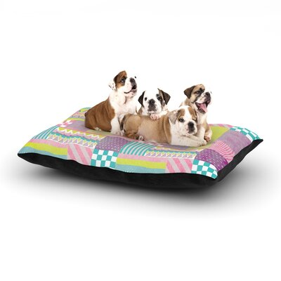 Louise Machado Patchwork Dog Pillow with Fleece Cozy Top Size: Small (40 W x 30 D x 8 H)