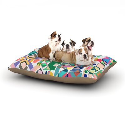 Mareike Boehmer Geometry 2B Abstract Dog Pillow with Fleece Cozy Top Size: Small (40 W x 30 D x 8 H)