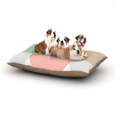 Mareike Boehmer Pastel Play 3X Dog Pillow with Fleece Cozy Top Size: Large (50 W x 40 D x 8 H)