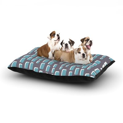 Michelle Drew Cubic Geek Chic Dog Pillow with Fleece Cozy Top Size: Small (40 W x 30 D x 8 H)