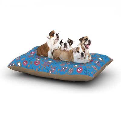 Michelle Drew Meadow Paisley Dog Pillow with Fleece Cozy Top Size: Small (40 W x 30 D x 8 H)