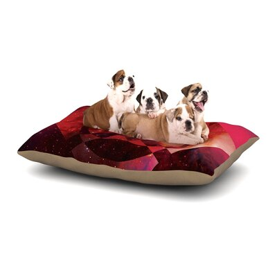 Matt Eklund Galactic Radiance Dog Pillow with Fleece Cozy Top Size: Small (40 W x 30 D x 8 H), Color: Red/Pink