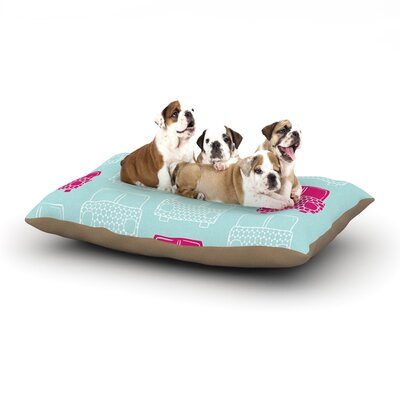 Michelle Drew Beep Beep Dog Pillow with Fleece Cozy Top Size: Small (40 W x 30 D x 8 H)