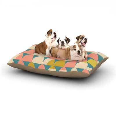 Michelle Drew Scallops Dog Pillow with Fleece Cozy Top Size: Small (40 W x 30 D x 8 H)