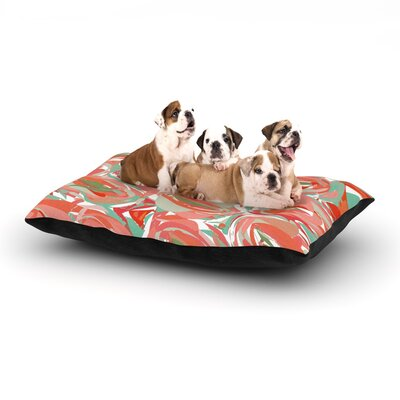 Matthias Hennig Go Left Dog Pillow with Fleece Cozy Top Size: Large (50 W x 40 D x 8 H), Color: Red/Green