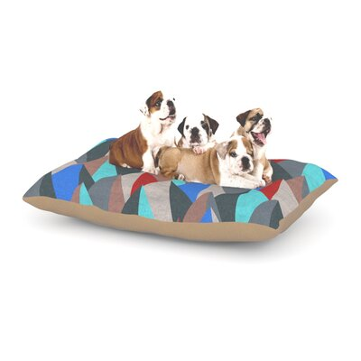 Michelle Drew Mountain Peaks Dog Pillow with Fleece Cozy Top Size: Large (50 W x 40 D x 8 H), Color: Blue/Red