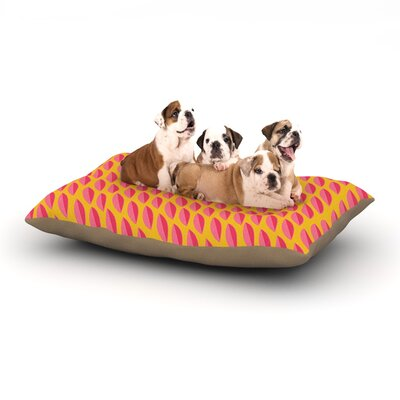 Michelle Drew Seed Pods Magenta Dog Pillow with Fleece Cozy Top Size: Small (40 W x 30 D x 8 H)