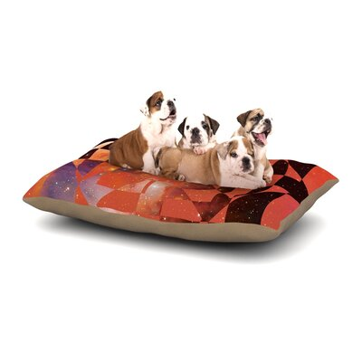 Matt Eklund Galactic Hope Dog Pillow with Fleece Cozy Top Size: Small (40 W x 30 D x 8 H), Color: Red/Orange