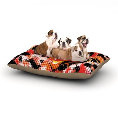 Matthias Hennig Camouflage Grid Dog Pillow with Fleece Cozy Top Size: Small (40 W x 30 D x 8 H)