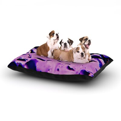 Maynard Logan Window Dog Pillow with Fleece Cozy Top Size: Large (50 W x 40 D x 8 H), Color: Purple