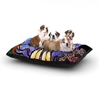 Mandie Manzano One Little Bite Dog Pillow with Fleece Cozy Top Size: Large (50 W x 40 D x 8 H)