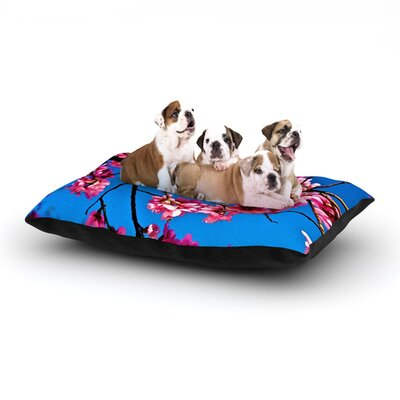 Maynard Logan Flowers Dog Pillow with Fleece Cozy Top Size: Small (40 W x 30 D x 8 H)
