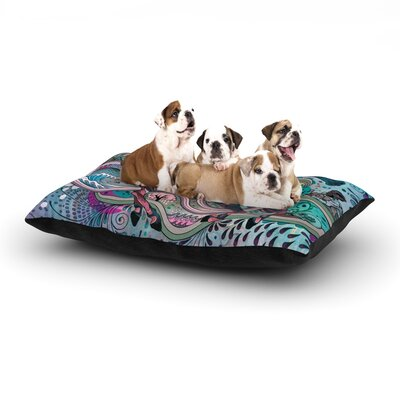 Mat Miller 'Poetry in Motion' Dog Pillow with Fleece Cozy Top Size: Large (50