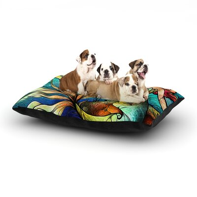 Mandie Manzano Serene Siren Dog Pillow with Fleece Cozy Top Size: Small (40 W x 30 D x 8 H)