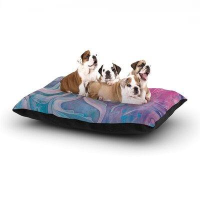Mat Miller Electric Dreams Dog Pillow with Fleece Cozy Top Size: Large (50 W x 40 D x 8 H)