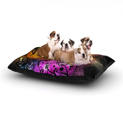 Mandie Manzano Sleeping Beauty Fairy Tale Dog Pillow with Fleece Cozy Top Size: Small (40 W x 30 D x 8 H)