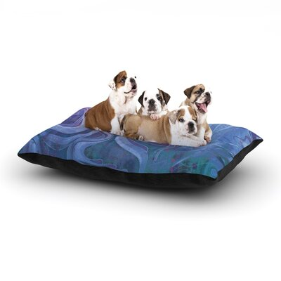 Mat Miller Electric Dreams II Dog Pillow with Fleece Cozy Top Size: Small (40 W x 30 D x 8 H)