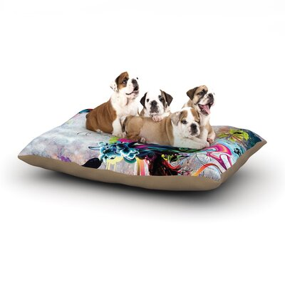 Mat Miller Streaming Eyes Abstract Dog Pillow with Fleece Cozy Top Size: Small (40 W x 30 D x 8 H)