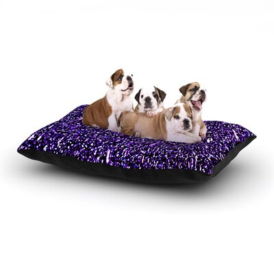 Maynard Logan Purple Dots Dog Pillow with Fleece Cozy Top Size: Small (40 W x 30 D x 8 H)