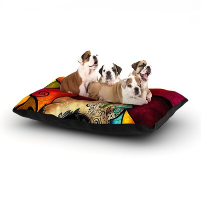 Mandie Manzano Lips Like Morphine Dog Pillow with Fleece Cozy Top Size: Small (40 W x 30 D x 8 H)
