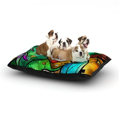 Mandie Manzano Nola Dog Pillow with Fleece Cozy Top Size: Small (40 W x 30 D x 8 H)