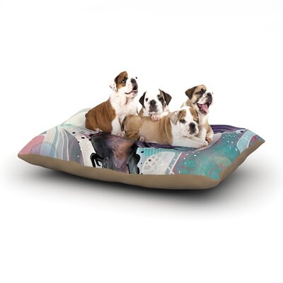 Mat Miller Reaching Hummingbird Dog Pillow with Fleece Cozy Top Size: Small (40 W x 30 D x 8 H)