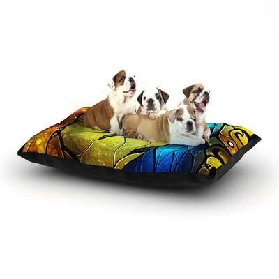 Mandie Manzano Wishing You Were Dog Pillow with Fleece Cozy Top Size: Large (50 W x 40 D x 8 H)