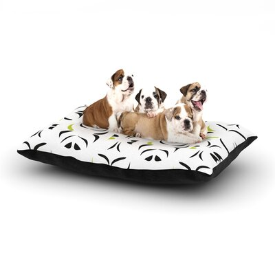 Miranda Mol Retro Green Snow Storm Dog Pillow with Fleece Cozy Top Size: Small (40 W x 30 D x 8 H)