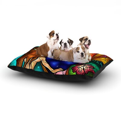 Mandie Manzano I Miss You Dog Pillow with Fleece Cozy Top Size: Small (40 W x 30 D x 8 H)