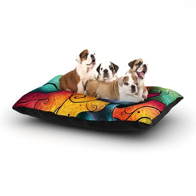 Mandie Manzano Andromeda Dog Pillow with Fleece Cozy Top Size: Large (50 W x 40 D x 8 H)