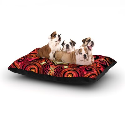 Mandie Manzano She Devil Full Dog Pillow with Fleece Cozy Top Size: Large (50 W x 40 D x 8 H)