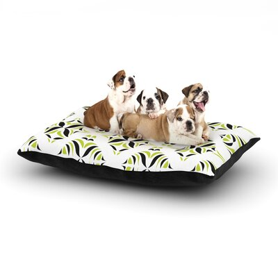 Miranda Mol Lime Green Rainforest Dog Pillow with Fleece Cozy Top Size: Large (50 W x 40 D x 8 H)