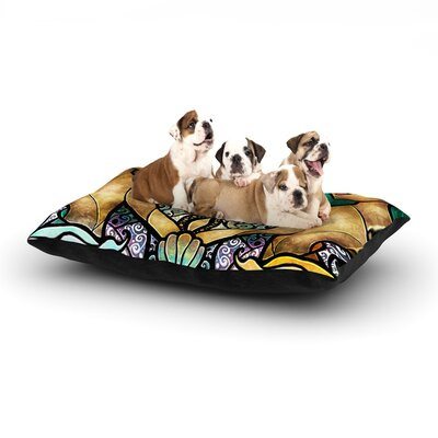 Mandie Manzano Mermaid Twins Dog Pillow with Fleece Cozy Top Size: Small (40 W x 30 D x 8 H)