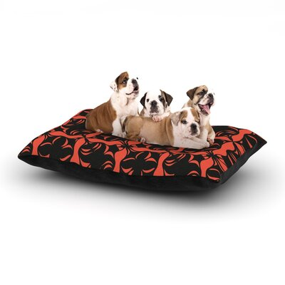 Miranda Mol Oval Orange Love Dog Pillow with Fleece Cozy Top Size: Large (50 W x 40 D x 8 H)