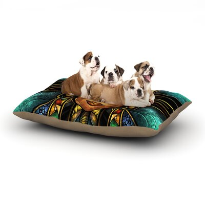 Mandie Manzano Nefertari Dog Pillow with Fleece Cozy Top Size: Large (50 W x 40 D x 8 H)