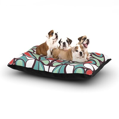Miranda Mol Brown Round Tiles Dog Pillow with Fleece Cozy Top Size: Small (40 W x 30 D x 8 H)