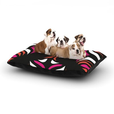 Miranda Mol Magenta Orange Hawaiian Retro Dog Pillow with Fleece Cozy Top Size: Small (40 W x 30 D x 8 H)