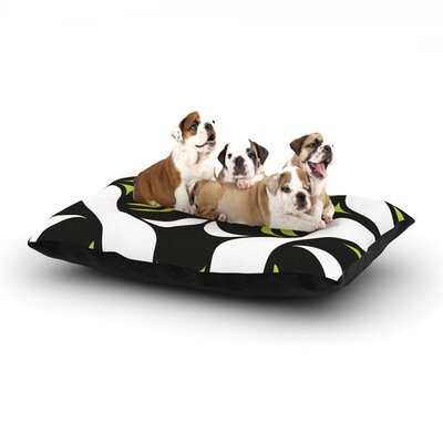 Miranda Mol Green White Jaws Dog Pillow with Fleece Cozy Top Size: Large (50 W x 40 D x 8 H)