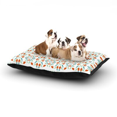 Miranda Mol Italian Kitchen Orange Green Dog Pillow with Fleece Cozy Top Size: Large (50 W x 40 D x 8 H)