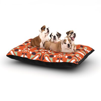 Miranda Mol Orange Swirl Kiss Dog Pillow with Fleece Cozy Top Size: Large (50 W x 40 D x 8 H)
