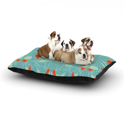 Miranda Mol Seafoam and Orange Dog Pillow with Fleece Cozy Top Size: Large (50 W x 40 D x 8 H)