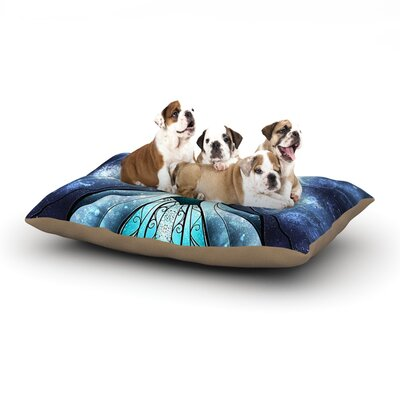 Mandie Manzano The Snow Queen Frozen Dog Pillow with Fleece Cozy Top Size: Small (40 W x 30 D x 8 H)
