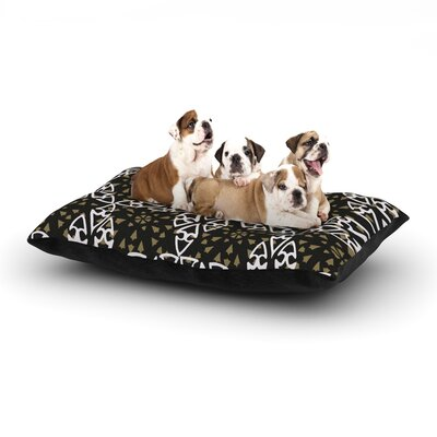 Miranda Mol Ethnical Snowflakes Dog Pillow with Fleece Cozy Top Size: Small (40 W x 30 D x 8 H)