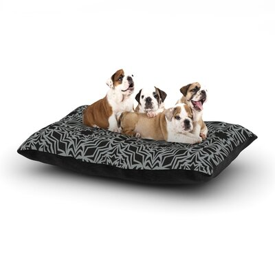Miranda Mol Optical Fest Dog Pillow with Fleece Cozy Top Size: Small (40 W x 30 D x 8 H)